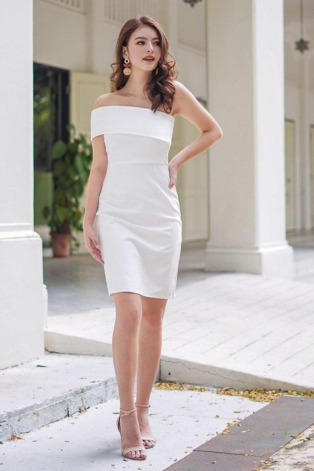 MONIQUE TOGA BODYCON DRESS #MADEBYLOVET (WHITE)
