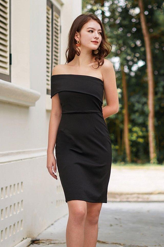 MONIQUE TOGA BODYCON DRESS #MADEBYLOVET (BLACK) *RESTOCKED*