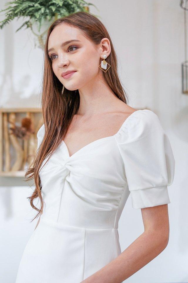 MAEVE 2-WAY TWIST KNOT PENCIL DRESS #MADEBYLOVET (WHITE)