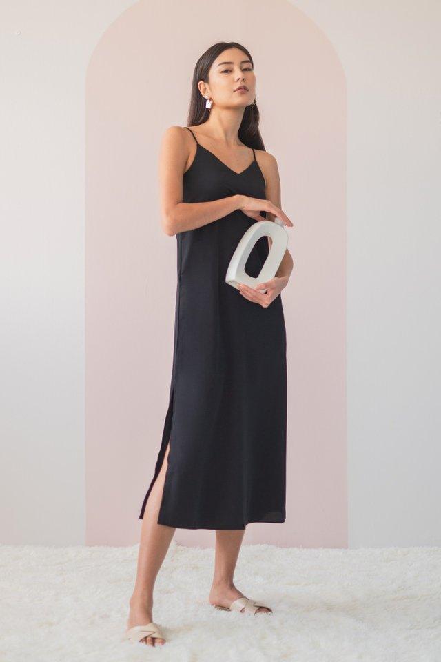 DELYSE SLIT MAXI DRESS #MADEBYLOVET (BLACK) *RESTOCKED*