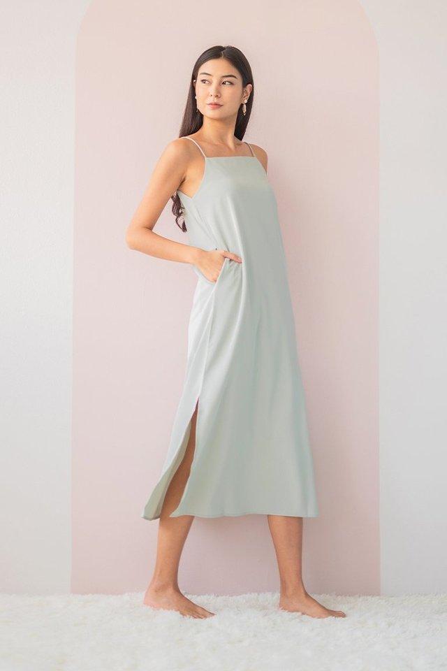 DELYSE SLIT MAXI DRESS #MADEBYLOVET (SEAFOAM)