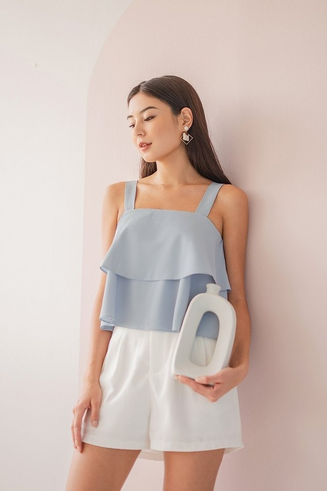 HILLARY TIERED SWING TOP #MADEBYLOVET (POWDER BLUE)