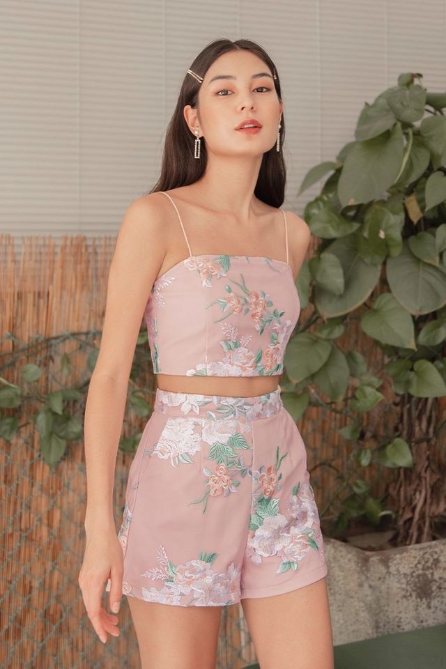 XUAN EMBROIDERY 2-PIECE SET #MADEBYLOVET (BLOSSOM)