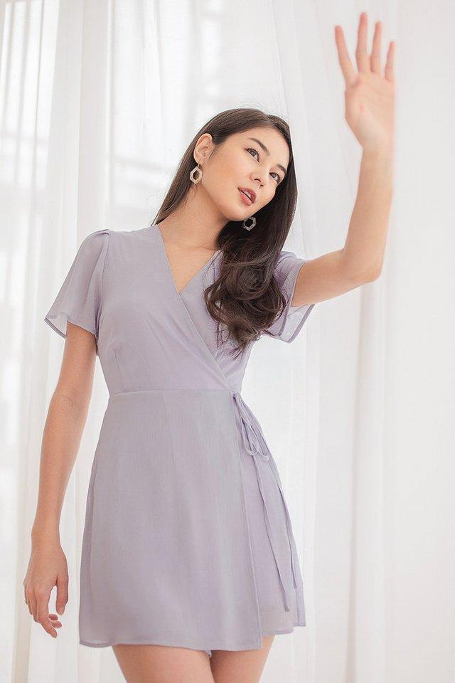 CAROLYN WRAP TIE-STRING ROMPER DRESS #MADEBYLOVET (DUSTY LILAC) *RESTOCKED*