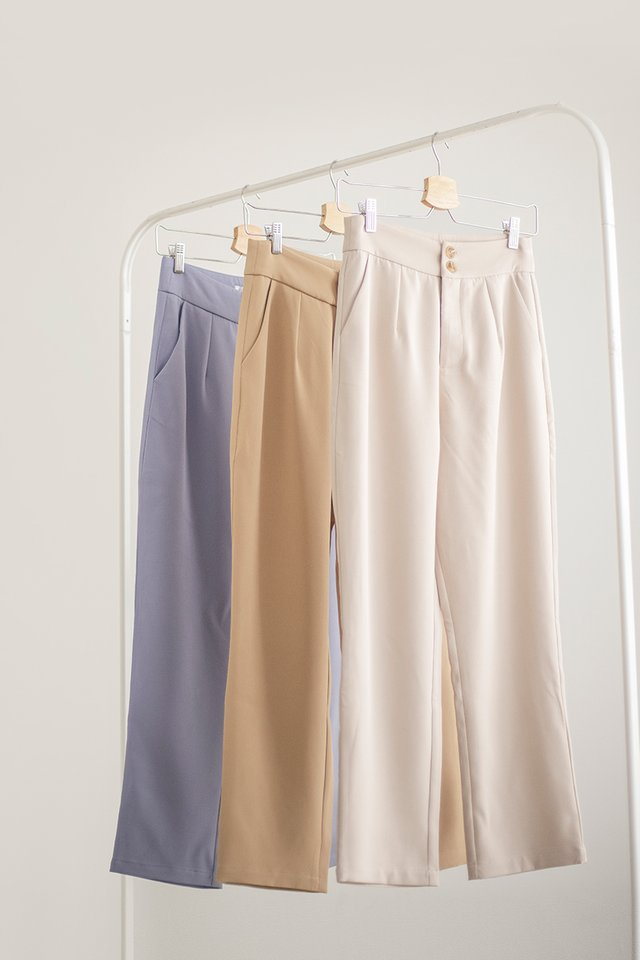 EDNA DOUBLE BUTTON PANTS #MADEBYLOVET (SAND)
