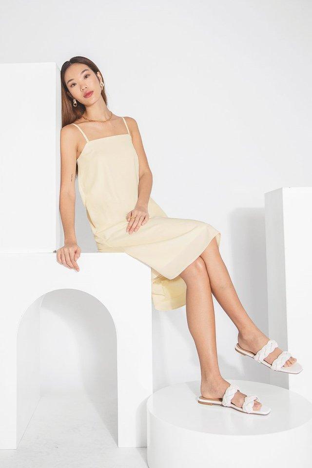 NARELLE CAMI TENT DRESS #MADEBYLOVET (EGGSHELL)