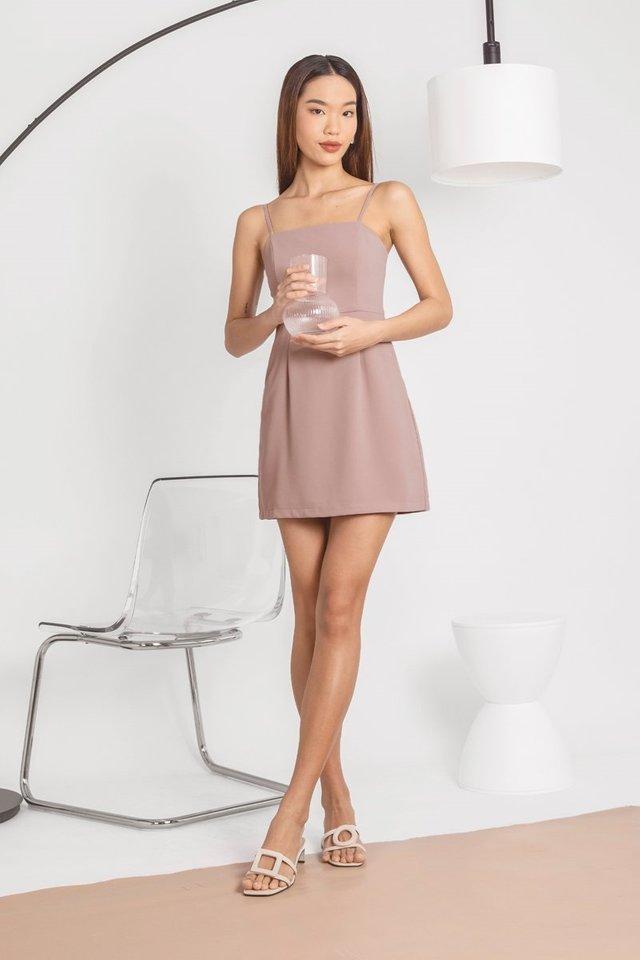VENALINE CAMI SKORTS DRESS #MADEBYLOVET (ROSE TAUPE)
