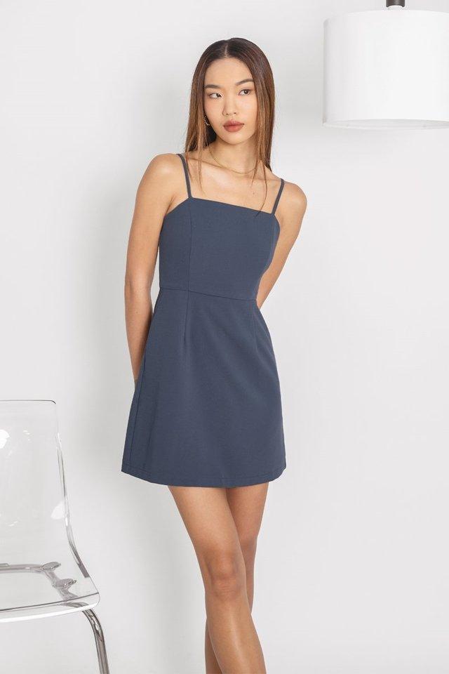 VENALINE CAMI SKORTS DRESS #MADEBYLOVET (SLATE BLUE)