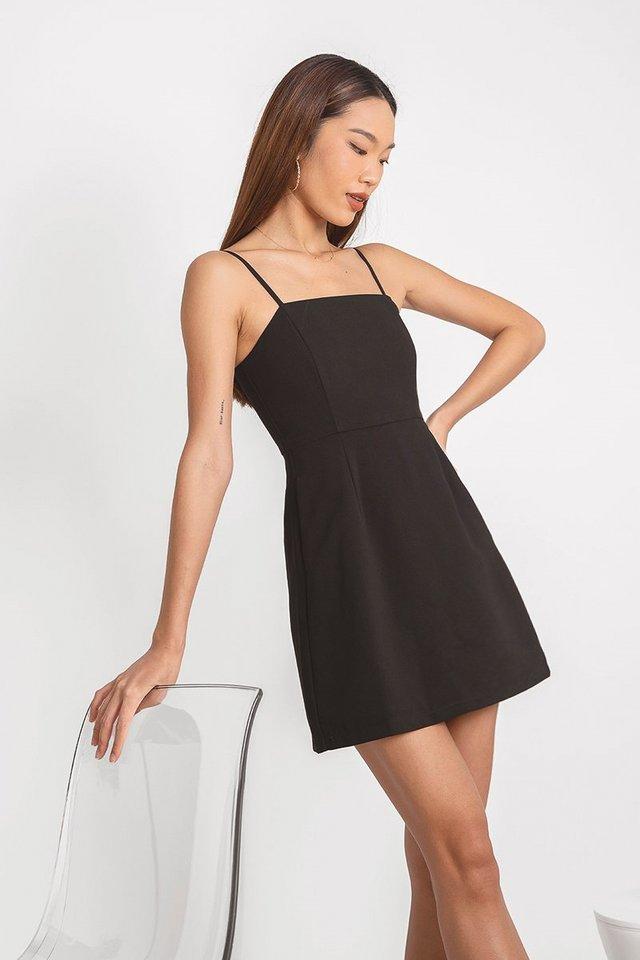 VENALINE CAMI SKORTS DRESS #MADEBYLOVET (BLACK)