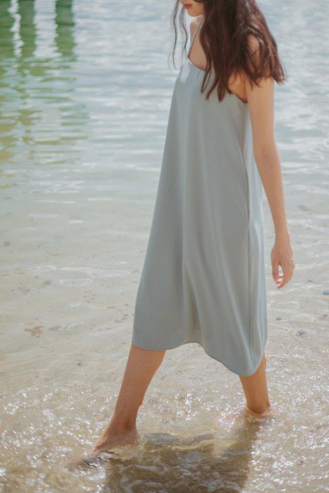 NARELLE CAMI TENT DRESS #MADEBYLOVET (SEAFOAM)