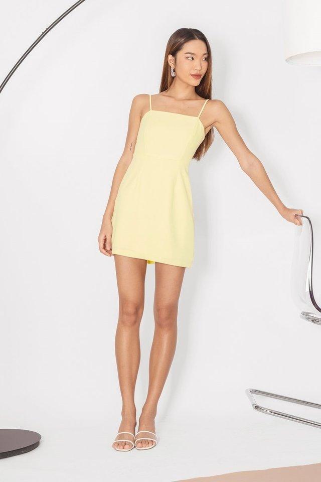 VENALINE CAMI SKORTS DRESS #MADEBYLOVET (MERINGUE YELLOW)