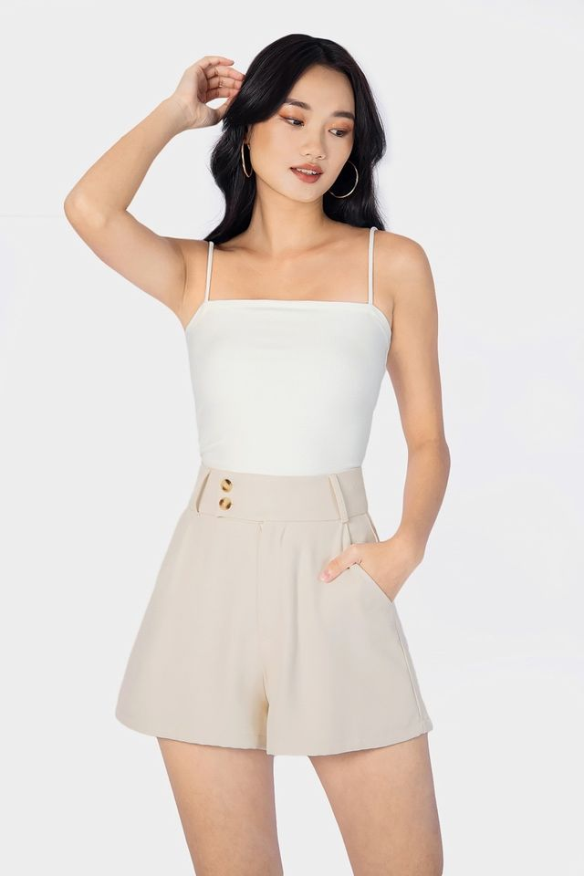 AELLYN RIBBED CAMI TOP #MADEBYLOVET (WHITE)