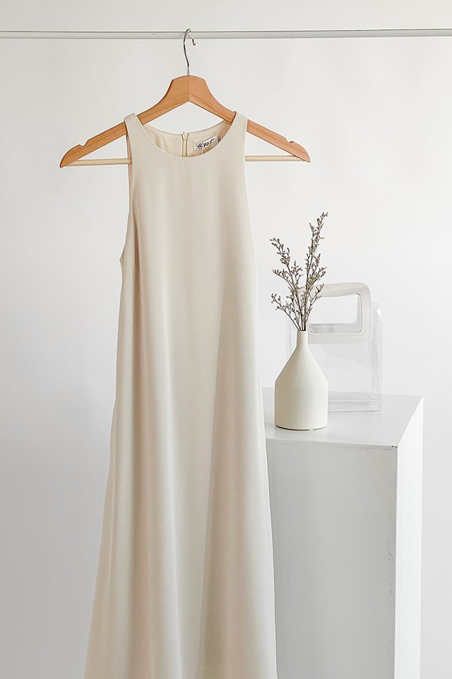 CAYCE LUXE RACER MIDI DRESS #MADEBYLOVET (SAND)