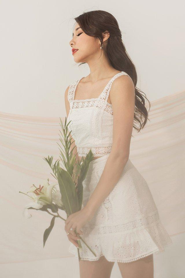 Stella Eyelet Top #MongXLovet (White) *Backorder*
