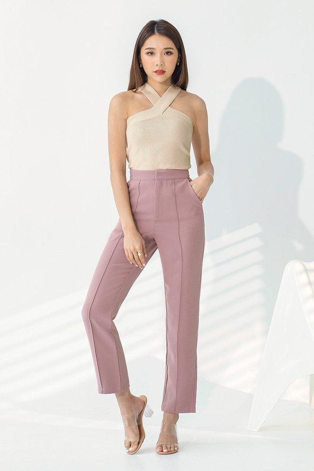 YARA TAILORED PANTS #MONGXLOVET (ROSE PINK)