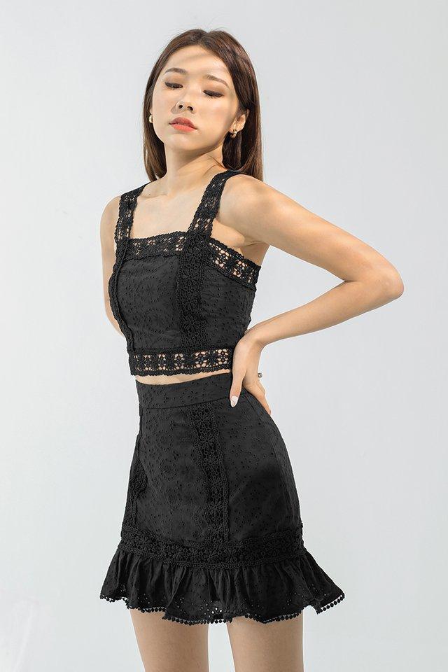 Stella Eyelet Top #MongXLovet (Black) *Backorder*