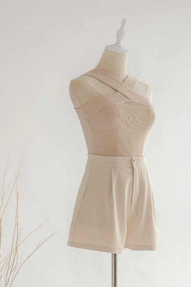 Savannah Basic Shorts #MongXLovet (Cotton Beige)