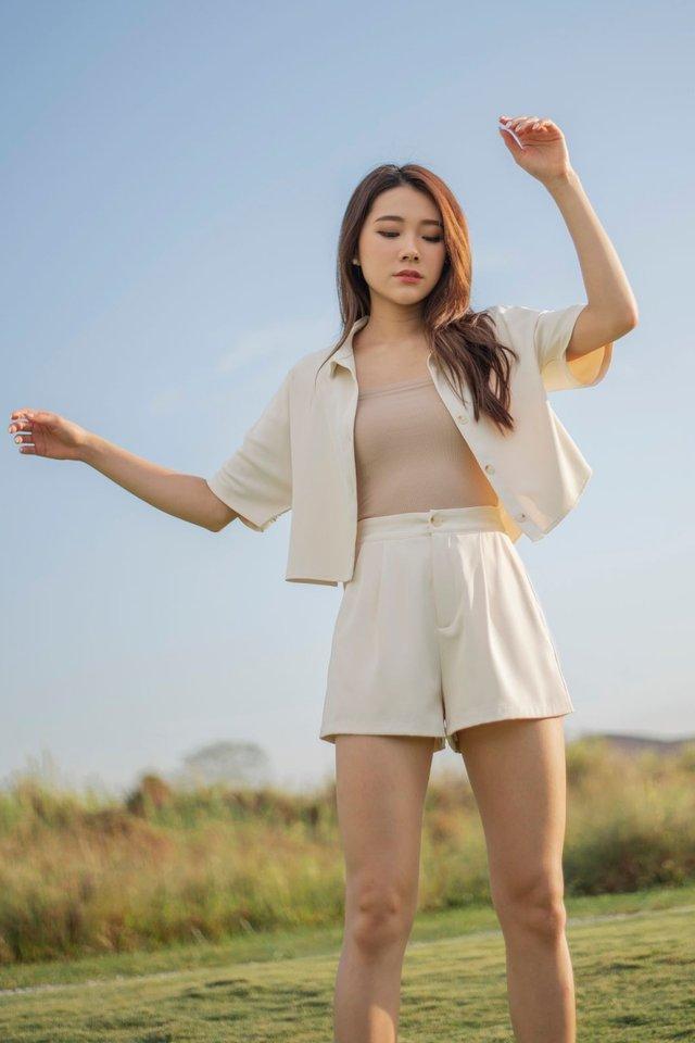 Savannah Basic Shorts #MongXLovet (Cotton Beige) *Backorder*
